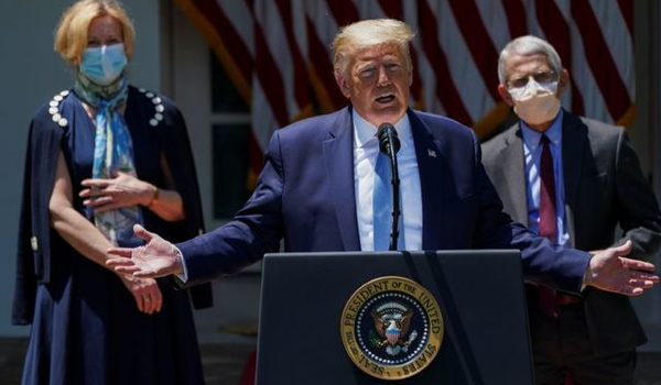 Trump: U.S. government working with other countries on vaccine
